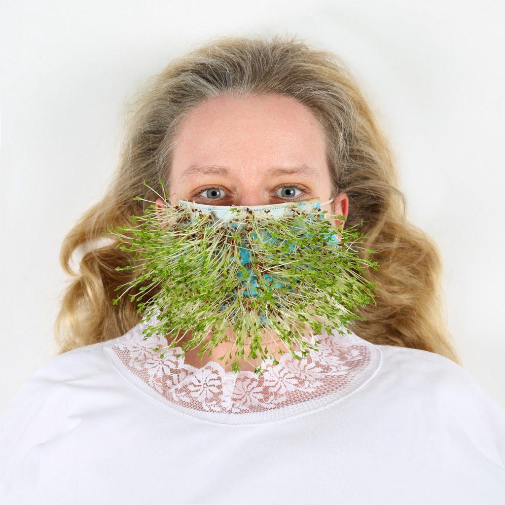 (c) Sophie Tiller, Self Growing Mask, photography, 2020