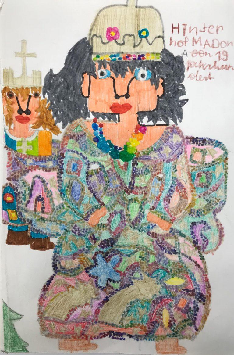 Suzanne Dixon, HInterhofmadonna, Courtesy werd:art, Jugend am Werk