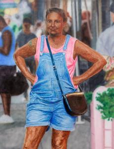 Hamishi Farah, Black Lena Dunham, 2020, Courtesy Christine König Galerie, Vienna and the artist